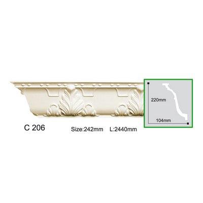 карниз с орнаментом gaudi decor c206