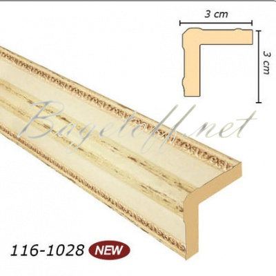 угловой молдинг арт-багет 116-1028