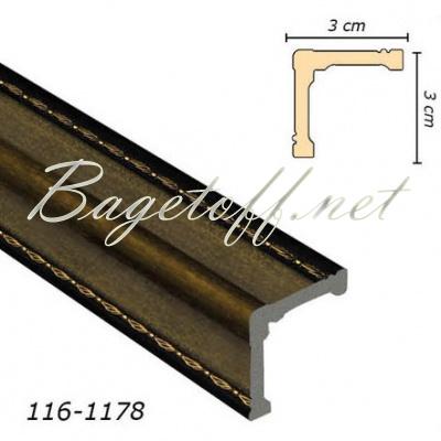 угловой молдинг арт-багет 116-1178
