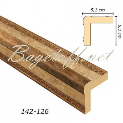 угловой молдинг арт-багет 142-126