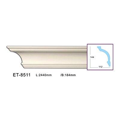 карниз гладкий classic home et-8511