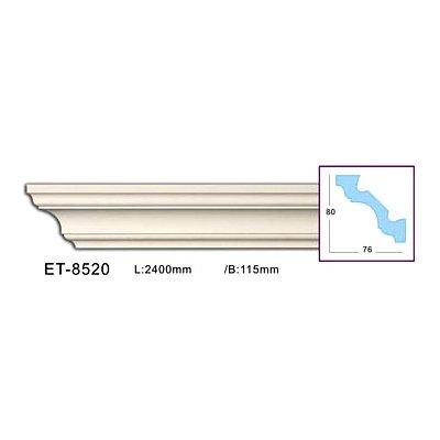 карниз гладкий classic home et-8520 flex/гибкий
