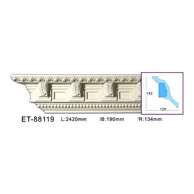 карниз с орнаментом classic home et-88119