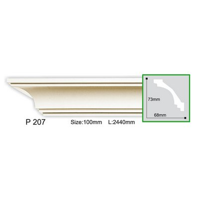 карниз гладкий gaudi decor p207f flex/гибкий