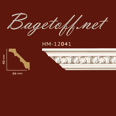карниз с орнаментом classic home new hm-12041