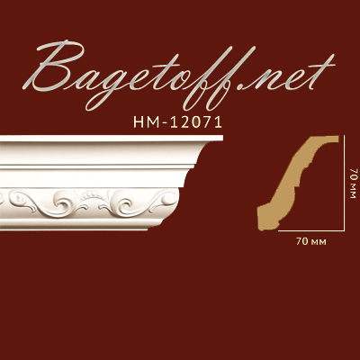 карниз с орнаментом classic home new hm-12071