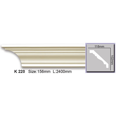 карниз гладкий harmony k220