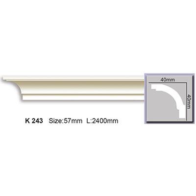 карниз гладкий harmony k243 flex/гибкий