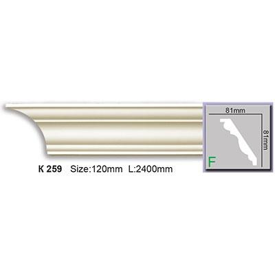 карниз гладкий harmony k259 flex/гибкий