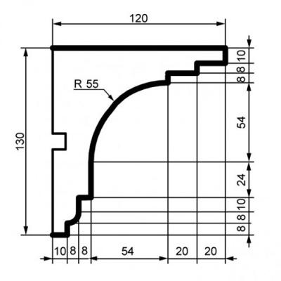 Фасадный Карниз Prestige Decor КС 111