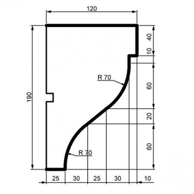 Фасадный Карниз Prestige Decor КС 116