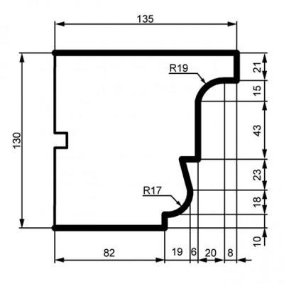 Фасадный Карниз Prestige Decor КС 140