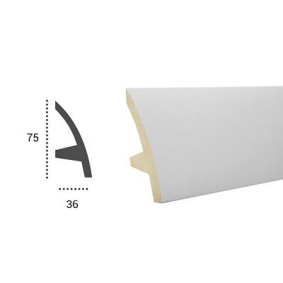 карниз для скрытого освещения tesori kf 502 flex/гибкий