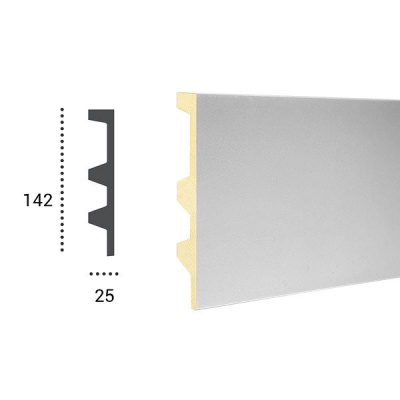 карниз для скрытого освещения tesori kf 505 flex/гибкий