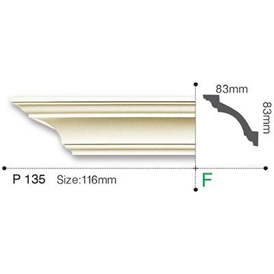 карниз гладкий gaudi decor p135f flex/гибкий