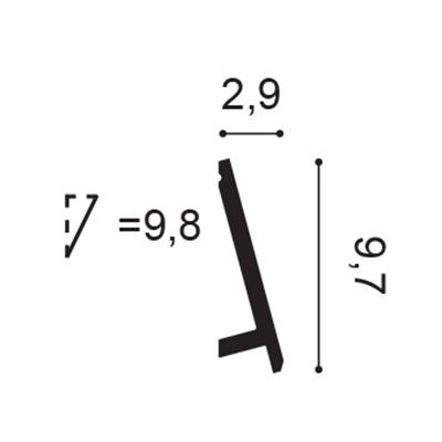 плинтус orac axxent sx179 flex/гибкий