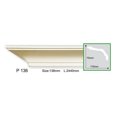 карниз гладкий gaudi decor p136f flex/гибкий
