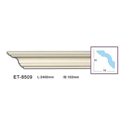 карниз гладкий classic home et-8509 flex/гибкий