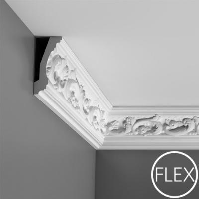 карниз с орнаментом orac decor c201 flex/гибкий