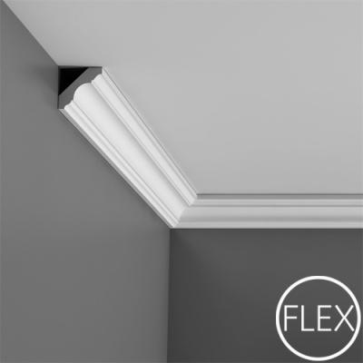 карниз гладкий orac decor c215 flex/гибкий